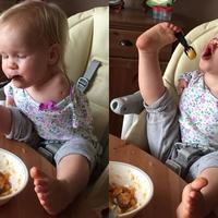Ta dziewczynka urodziła się bez rąk, ale radzi sobie lepiej niż niejedno sprawne dziecko...