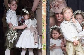 Mali Charlotte i George skradli serca gości na ślubie Pippy Middleton! Gdyby nie Kate... mogło być gorąco. [GALERIA ZDJĘĆ]