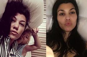 """Kourtney Kardashian chwali si ę zdjęciem. Fani: """"Co z ciebie za matka?! Mogłaś ZABIĆ dziecko!"""""""