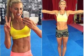 """Trenerka fitness pokazała sylwetkę 2 tygodnie po porodzie. To co zobaczycie, nie ma NIC wspólnego z """"płaskim brzuchem"""" Lewandowskiej..."""