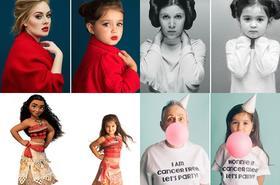 3-letnia dziewczynka odtwarza zdjęcia popularnych, silnych kobiet. Powód jest bardzo szlachetny...