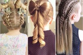 Urocze fryzury dla dziewczynek na Wigilię i Sylwestra