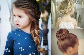 Śliczne fryzury z warkoczem dla dziewczynek - galeria