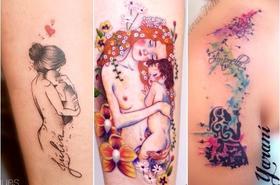 Tatuaż dla mamy - urocze wzory z imieniem dziecka i symbolem nieskończoności