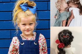 Fryzury dla dziewczynek ze ślicznymi dodatkami do włosów
