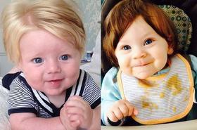 Hit sieci: niemowlęta z bujnymi czuprynkami. Nie, to nie peruki!