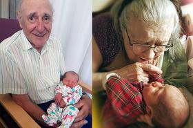 Najpiękniejsze zdjęcia dziadków, gdy poznają swoje wnuki - łza kręci się w oku!
