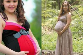 Dziewczynki chwalą się rosnącymi CIĄŻOWYMI brzuszkami. W tych zdjęciach jest coś niepokojącego...