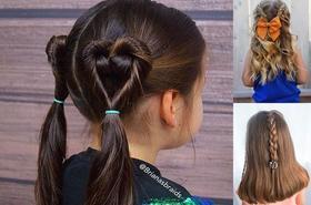 Prześliczne fryzury dla dziewczynek - galeria 2019