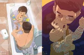 Ojcowie na medal? Te ilustracje na pewno WZRUSZĄ Cię do łez!