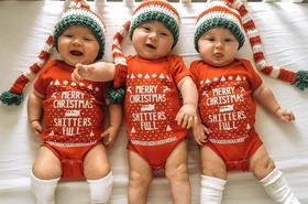Te trojaczki są gwiazdami Instagrama! Wprowadzą Was w świąteczny nastrój!