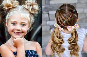 15 ślicznych fryzur dla dziewczynek - modne uczesania na wiosnę i lato!