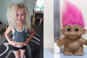 """Tej dziewczynki nie da się uczesać i wygląda jak troll! Bliscy nadali jej przezwisko """"lalki Chucky""""..."""