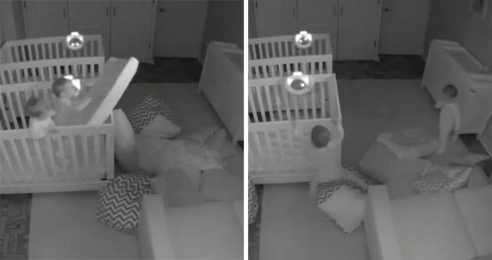 Rodzice NIE MIELI POJĘCIA co robią w nocy ich 2-letnie bliźniaki... To nagranie zdradza wszystko!