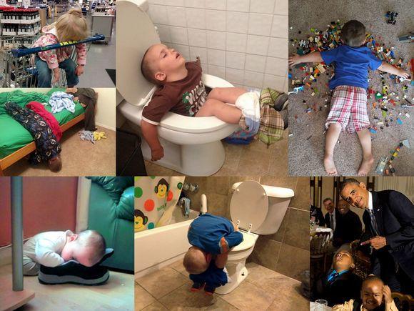Gdzie mogą spać dzieci? WSZĘDZIE! Zobaczcie, jak one to robią