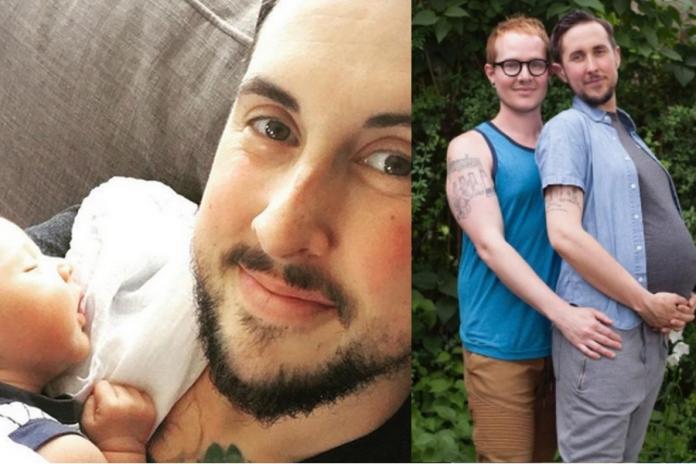 """Transpłciowy mężczyzna URODZIŁ DZIECKO! """"Ohydna patologia!"""" - grzmią internauci."""