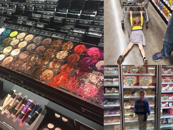 Zakupy z dzieckiem to nie lada wyzwanie! Te zdjęcia mówią WSZYSTKO