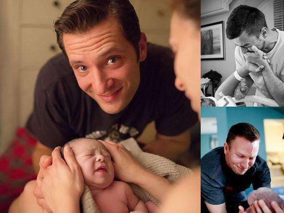 Zdjęcia ojców, którzy po raz pierwszy zobaczyli swoje dzieci - galeria, która wzrusza