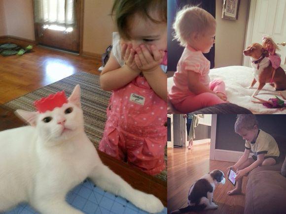 Zwierzaki domowe, jako najlepsi przyjaciele dziecka - 18 niesamowitych zdjęć!