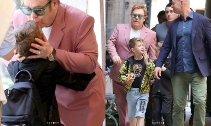 Elton John z mężem i dziećmi w Mediolanie kupował Lego. Zobaczcie, jak wyrośli synowie piosenkarza!