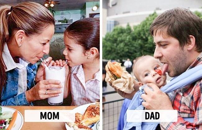 10 dowodów na to, że matki i ojcowie wszystko robią ZUPEŁNIE INACZEJ! Wygląda znajomo?