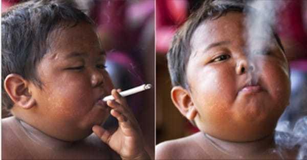 2-latek uzależnił się od... 40 papierosów dziennie. 6 lat później wygląda TAK!