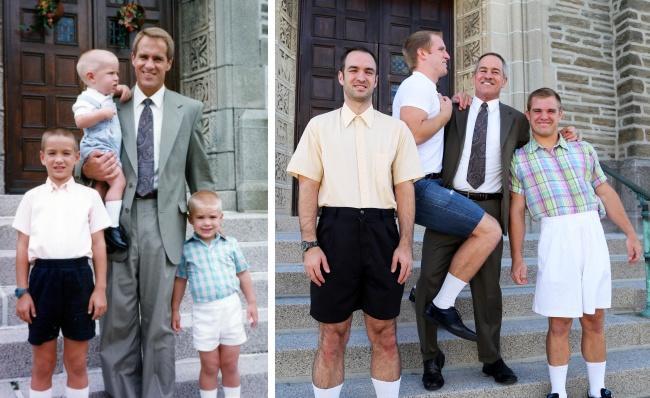 Po wielu latach odtworzyli swoje zdjęcia z dzieciństwa - co za kreatywność!