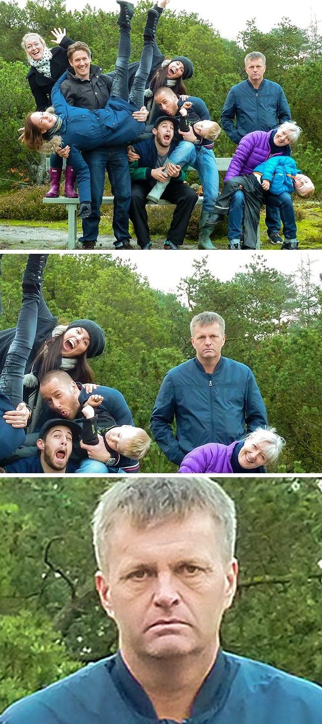 16 zdjęć rodzinnych, na których dzieje się coś dziwnego - nr 12 bawi do łez!