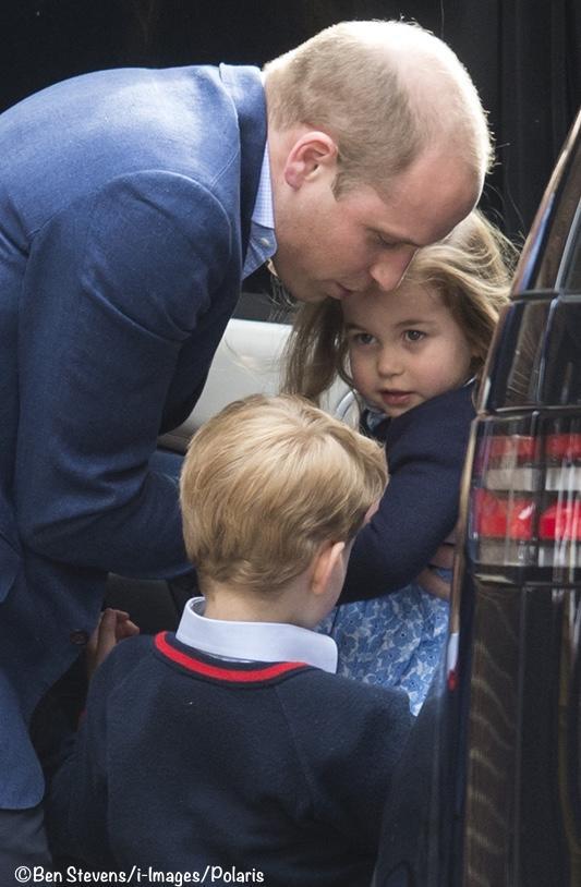 Charlotte i George witają młodszego brata! Tak wyglądali w drodze do szpitala [WIDEO]
