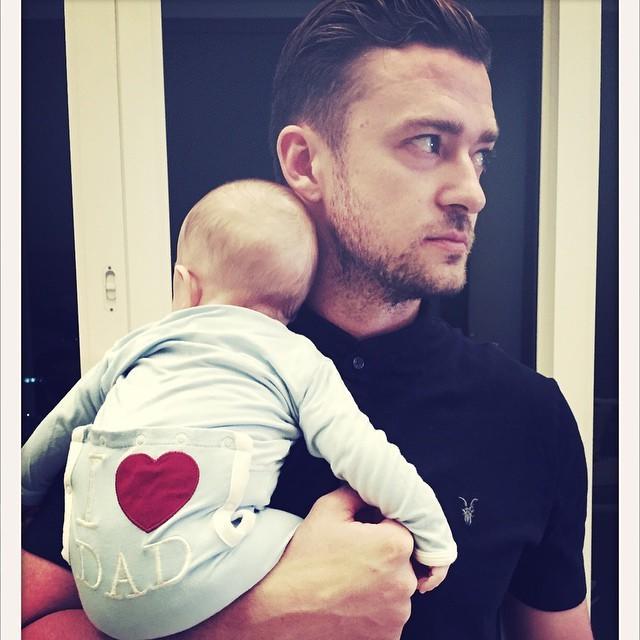 Znani ojcowie pozują ze swoimi dziećmi i topią serca internautów - Justin Timberlake, David Beckham, Cristiano Ronaldo i inni