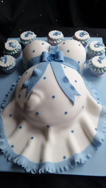 Makabryczny tort na baby shower dla przyszłej mamy... Chciałybyście dostać taki tort?