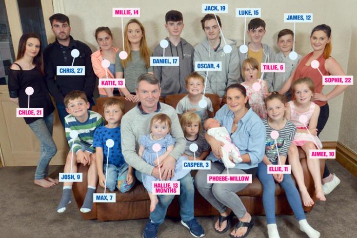 """Najliczniejsza brytyjska rodzina: """"Spodziewamy się DWUDZIESTEGO dziecka!"""""""