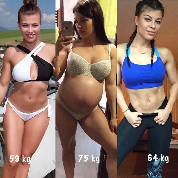 """Natalia Gacka pokazała swoją metamorfozę przed, w trakcie i po ciąży! """"Nie jem 100% idealnie"""""""