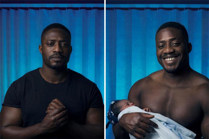 Zdjęcia mężczyzn przed i po narodzinach dziecka - wzruszająca galeria!